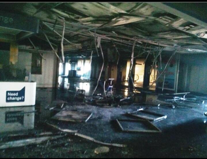 Aeroporto di Fiumicino disastroso incendio