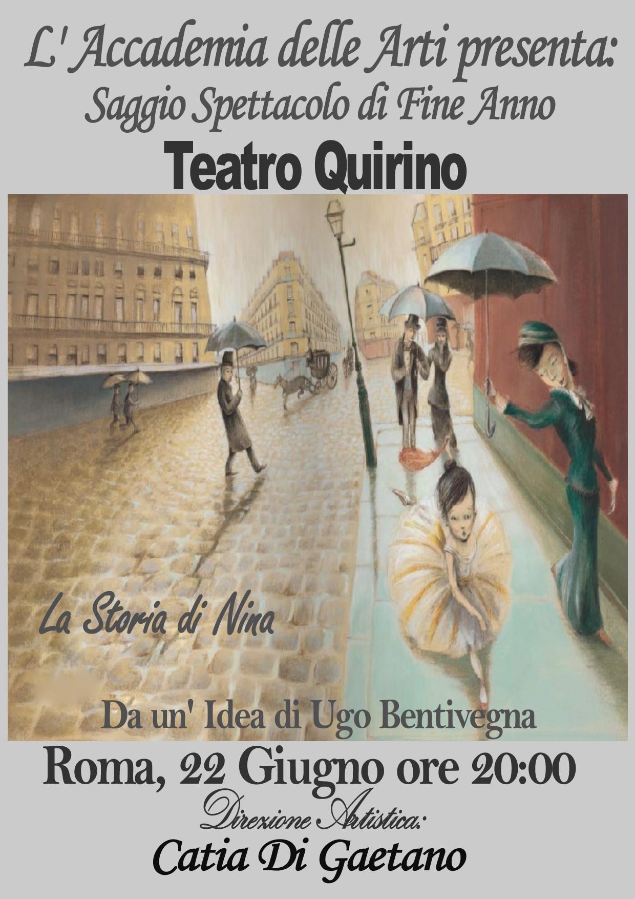 La Storia di Nina Teatro Quirino Roma