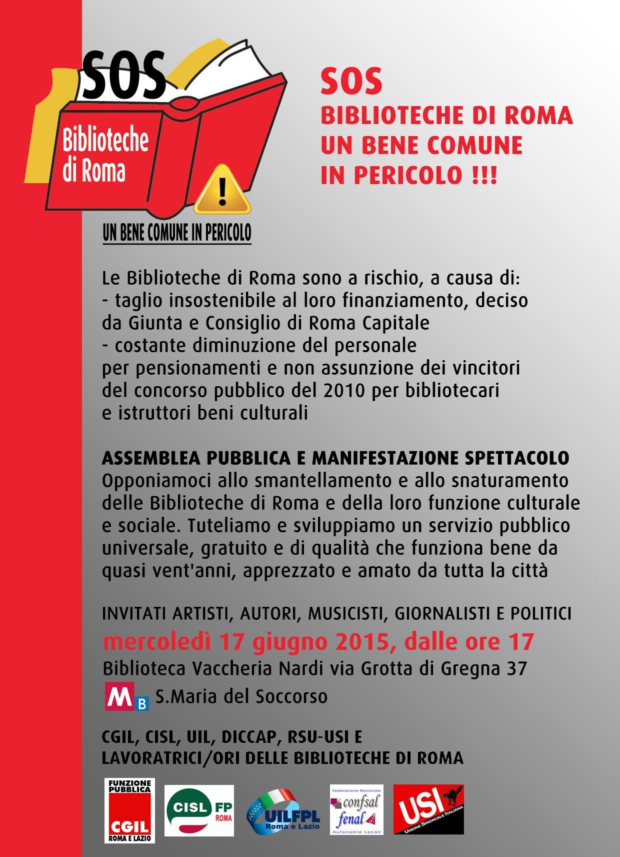 SOS BIBLIOTECHE DI ROMA