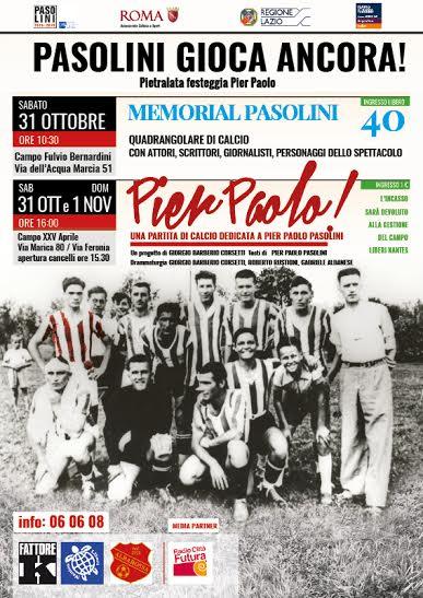 Un calcio in ricordo di Pasolini
