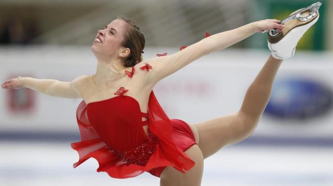 Carolina Kostner in pista a Osaka