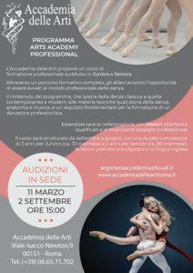 Arts Academy Professional - Audizioni