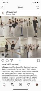 La Joffrey Ballet School e Obiettivo Danza