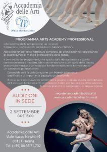 Accademia delle Arti – La Danza e Lo Spettacolo