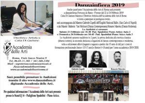 L'Accademia delle Arti a Danzainfiera 2019
