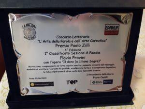 Flavio Provini: 1° classificato nella Sezione Poesie