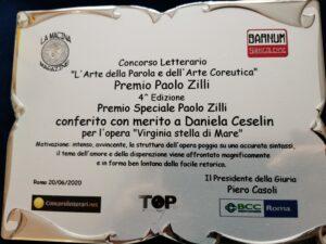 Daniela Cibin: Premio speciale Paolo Zilli